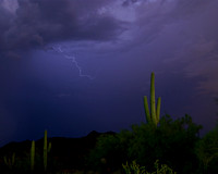 Storm Approaching Fountain Hills (8x10)